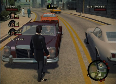 """Oh yes, it makes perfect sense for the Don of NY to jack cars of the street in broad daylight."" (image from http://www.badassgamerblog.com)"